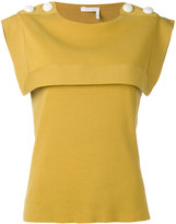 Chloé chest panel top - women - Cotton - S