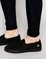 Lyle & Scott Eden Slip On Sneakers In Twill