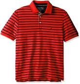 Nautica Men's Classic Fit Short Sleeve Striped Polo Shirt