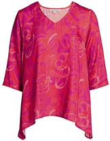 Caroline Rose Caroline Rose, Plus Size Fiesta Cha-Cha Print Party Top