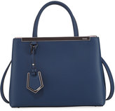 Fendi 2Jours Two-Tone Leather Satchel Bag, Blue