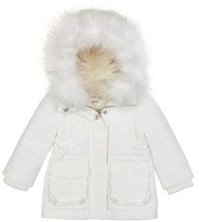 Habitual Baby Girl's Faux Fur-Trimmed Hooded Parka