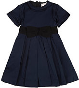Lanvin TAFFETA A-LINE DRESS-NAVY SIZE 4