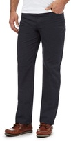 Maine New England Big And Tall Navy Pindot Five Pocket Trousers