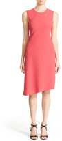 Narciso Rodriguez Curvilinear Dart Crepe Dress