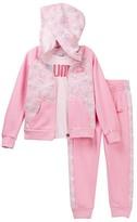 Puma Tee, Zip Hoodie, & Pants Set (Little Girls)
