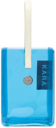 Kara Pinch Clear Nylon Wristlet