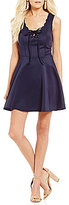 Jodi Kristopher Lace Up Fit-And-Flare Dress