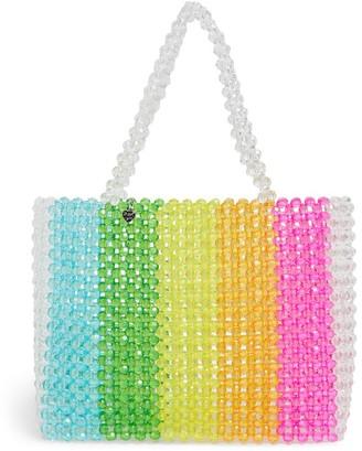 Bari Lynn Beaded Rainbow Tote Bag