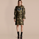 Burberry Floral Tapestry Fil Coupé and Sequin Dress