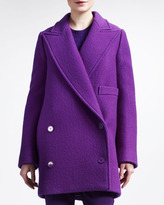 Stella McCartney Double-Breasted Exaggerated-Lapel Coat