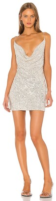 Jay Godfrey Baldwin Cowl Neck Mini Dress
