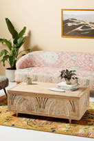 Anthropologie Handcarved Lovella Trunk Coffee Table