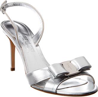 Salvatore Ferragamo Vara Bow Leather Slingback Sandal