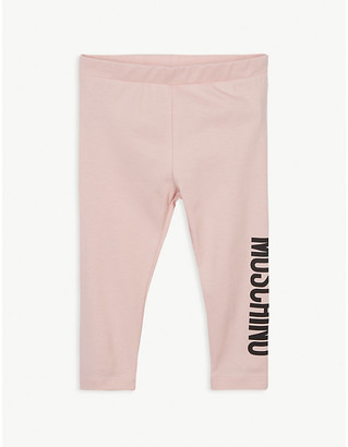 Moschino Logo print cotton-blend leggings 3-36 months