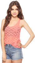Snap Button Lace Tank