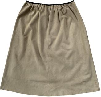 Celine Beige Suede Skirts