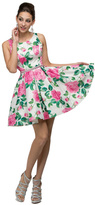 Dancing Queen - Charming Short Floral Print Sleeveless Dress 9511