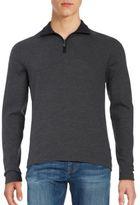 HUGO BOSS Herringbone Quarter-Zip Pullover