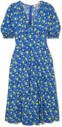 Diane von Furstenberg Jemma Floral-print Crepe Midi Dress