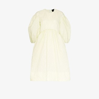 Simone Rocha Puff Sleeve Smock Dress