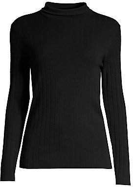 Peserico Women's Rib-Knit Merino Wool Mockneck Sweater