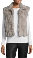 Adrienne Landau Women's Textured Rabbit Fur Vest