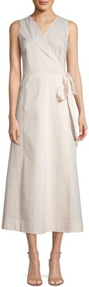 Lafayette 148 New York Siri Sonata Stripe Wrap Dress