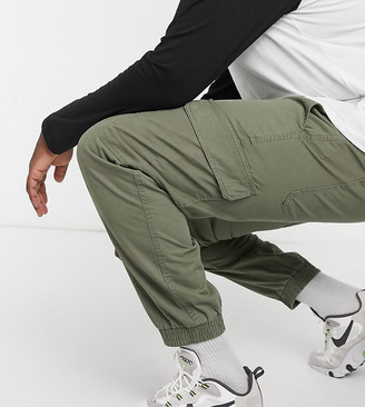 New Look Plus cuffed cargo trouser in khaki