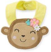 Carter's Unisex Baby Animal Face Terry Teething Bib (Girl's Monkey 2) by