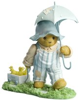 Enesco Cherished Teddies Collection Girl/Cart/Umbrella Figurine, 4.875-Inch