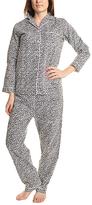 Angelina Snow Leopard Flannel Pajama Set