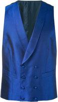 Canali double breasted waistcoat - men - Silk/Cupro - 46