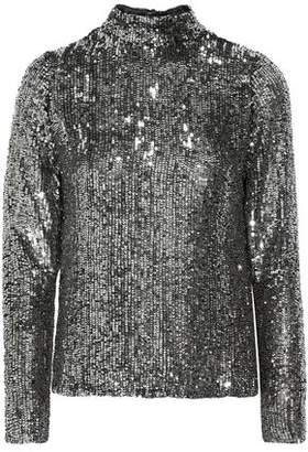 Juan Carlos Obando Open-back Sequined Tulle Blouse