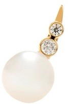Sophie Bille Brahe Lulu Des Etoiles 14kt Gold Pearl And Diamond Right Single Earring