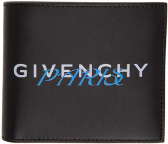 Givenchy Black and Blue Paris Bifold Wallet
