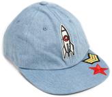 Steve Madden Denim Rocket Patch Baseball Cap