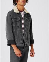 Topman Topman Detachable Collar Denim Jacket