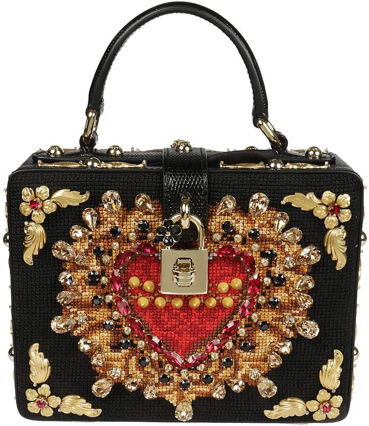 Dolce & Gabbana Embellished Box Shoulder Bag