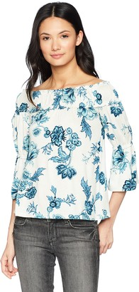 William Rast Women's Lexie Drama Sleeve Off The Shoulder Top