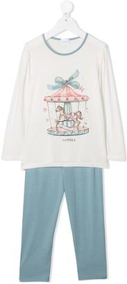 La Perla Kids Carousel Print Pyjama Set