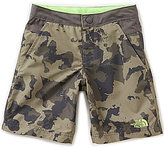 The North Face Big Boys 8-20 Color Block Camo Print Hike/Water Shorts