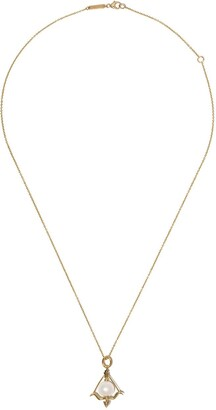 Stephen Webster 18kt yellow gold Sagittarius Astro Ball pearl pendant necklace