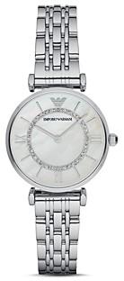 Giorgio Armani Emporio Gianni Mother-of-Pearl Dial Watch, 32mm