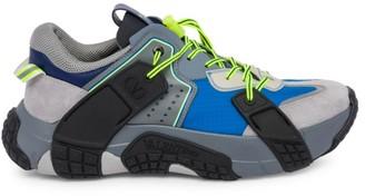 Valentino Mixed-Media Sneakers
