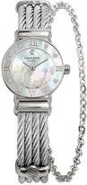 Charriol Women's Swiss St-Tropez Diamond Accent Steel Cable Chain Bracelet Watch (25mm)