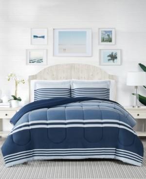 Pem America Cole Stripe 3-Pc. King Comforter Mini Set, Created for Macy's Bedding
