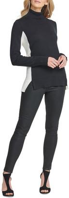 DKNY T-Neck With Split Hem Sweater
