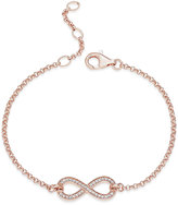 Thomas Sabo Pavé Crystal Infinity Bracelet in 18k Rose Gold-Plated Sterling Silver