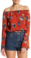 Blvd Floral Bell Cropped Blouse